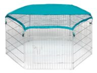 Wire Pet Playpen with waterproof polyester cloth 6 panels 06-0112 Wire Pet Playpen with waterproof polyester cloth 6 panels 06-0112