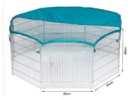 Wire Pet Playpen with waterproof polyester cloth 8 panels size 63x 60cm 06-0114 Wire Pet Playpen with waterproof polyester cloth 8 panels size 63x 60cm 06-0114
