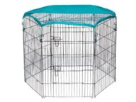 Wire Pet Playpen with waterproof polyester cloth 6 panels size 63x 91cm 06-0116 Dog Playpen: Pet Playpen Products, Dog Goods Pet