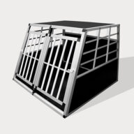 Aluminum Small Double Door Dog cage 89cm 75a 06-0772 Dog House: Pet Products, Dog Goods Small Double Door Dog cage 75a