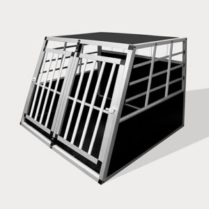 Small Double Door Dog cage 75a