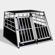 Aluminum Large Double Door Dog cage 65a 06-0773 Dog House: Pet Products, Dog Goods Large Double Door Dog cage 65a