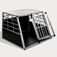 Large Double Door Dog cage With Separate board 65a 06-0774 Dog House: Pet Products, Dog Goods Large Double Door Dog cage With Separate board 65a