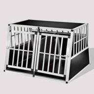 Large Double Door Dog cage With Separate board 06-0778 Dog House: Pet Products, Dog Goods Large Double Door Dog cage