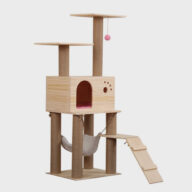Pet Cat Tree Parts Removable and Washable Solid Wood Sisal Pet Nest Cat House