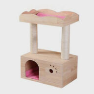 Pet, Cat Toy 75cm Space-saving Solid Wood Style Cat Tree