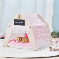 Pet Tents: Pet Teepee Bed House Folding Dog Cat Tents Dog Tent Indoor Portable Lace Tent: Pink Lace Teepee Small Animal Dog House Tent 06-0959 Indoor Portable Lace Tent: Pink Lace Teepee Small Animal Dog House Tent 06-0959