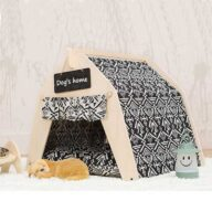 Pet Tents: Pet Teepee Bed House Folding Dog Cat Tents Dog Tent Waterproof Dog Tent: OEM 100% Cotton Canvas Pet Teepee Tent Colorful Wave Collapsible 06-0963 Waterproof Dog Tent: OEM 100% Cotton Canvas Pet Teepee Tent Colorful Wave Collapsible 06-0963