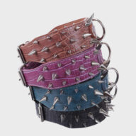 Multicolor Optional Popular Wide Studded PU Leather Spiked Dog Chain Collar Multicolor Optional Popular Wide Studded PU Leather Spiked Dog Chain Collar