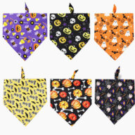 2020 New Product Halloween Theme Pet Triangle Scarf Dog Bandana Pet Supplies Double-sided Pattern Halloween Accessories Dog bandana: Pet bandana & pet accessories 2020 New Product Halloween Theme